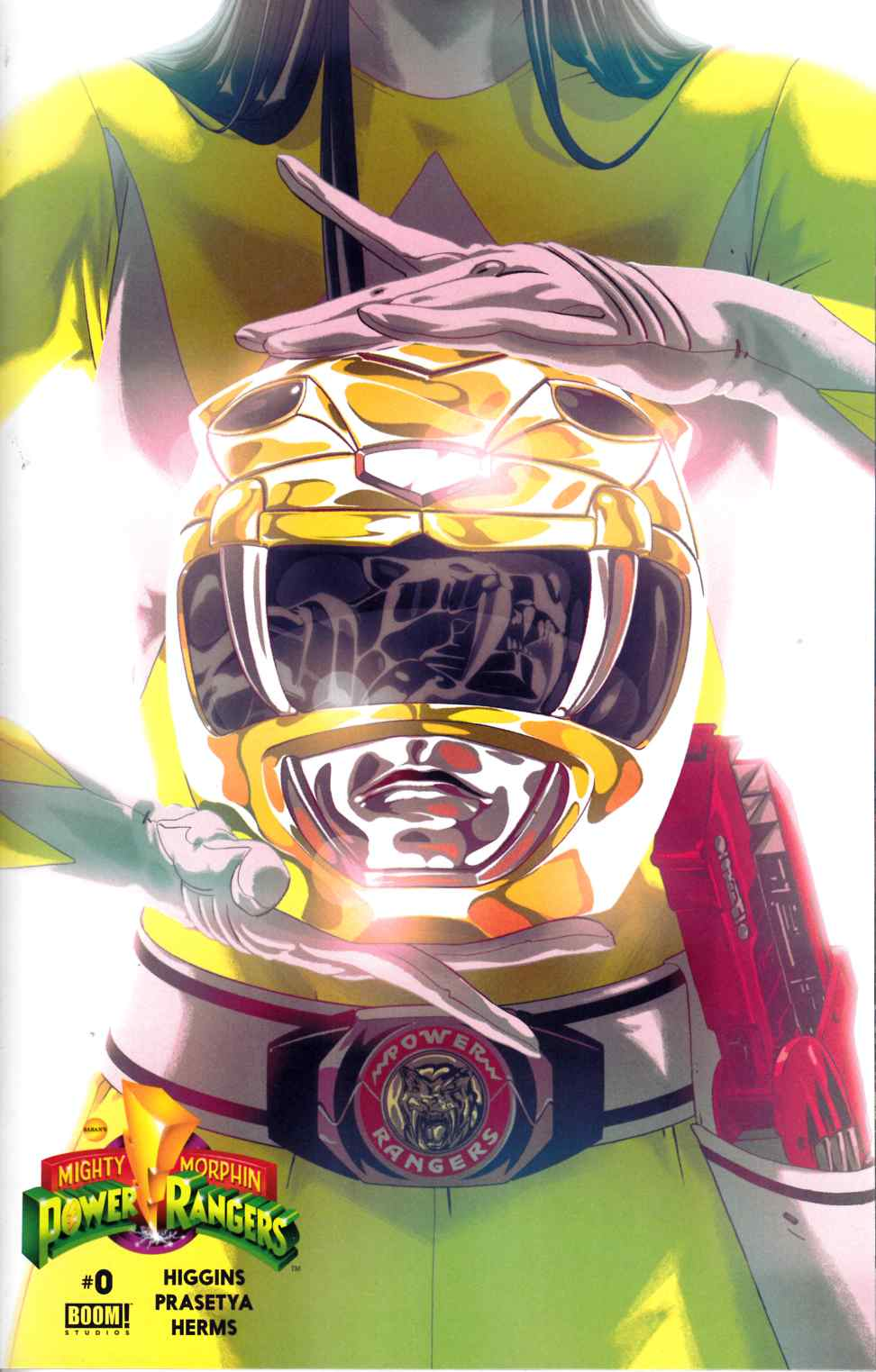 Mighty Morphin Power Rangers #0 Yellow Ranger Cover [Boom Comic]