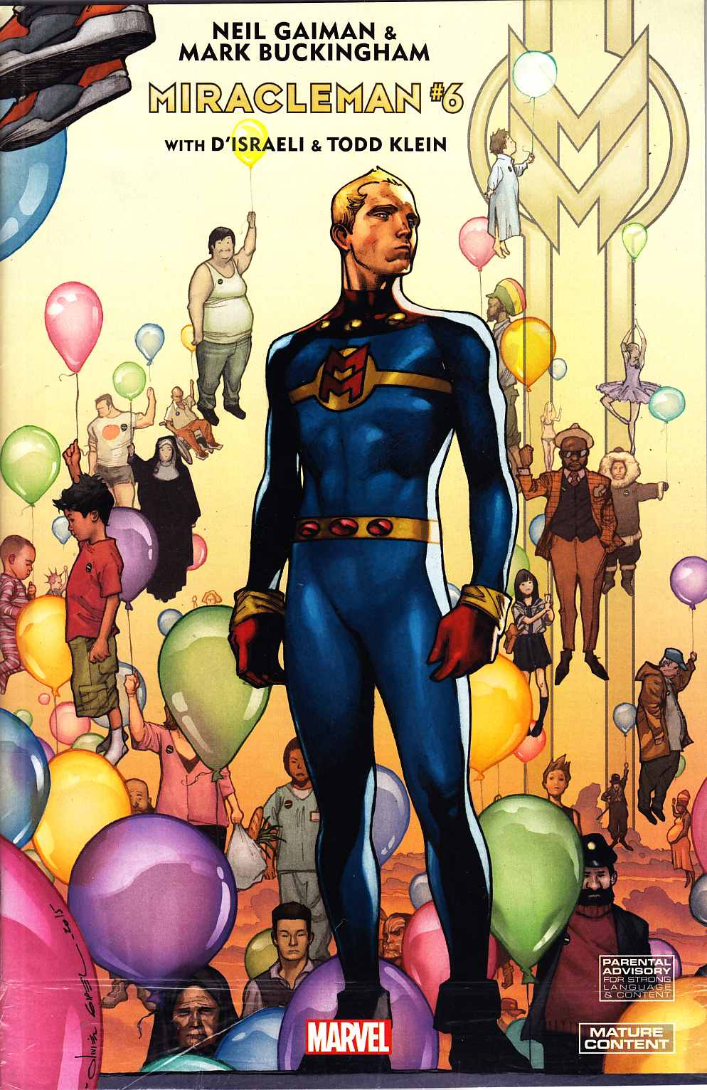 Miracleman By Gaiman & Buckingham #6 Coipel Variant Cover [Marvel Comic] LARGE