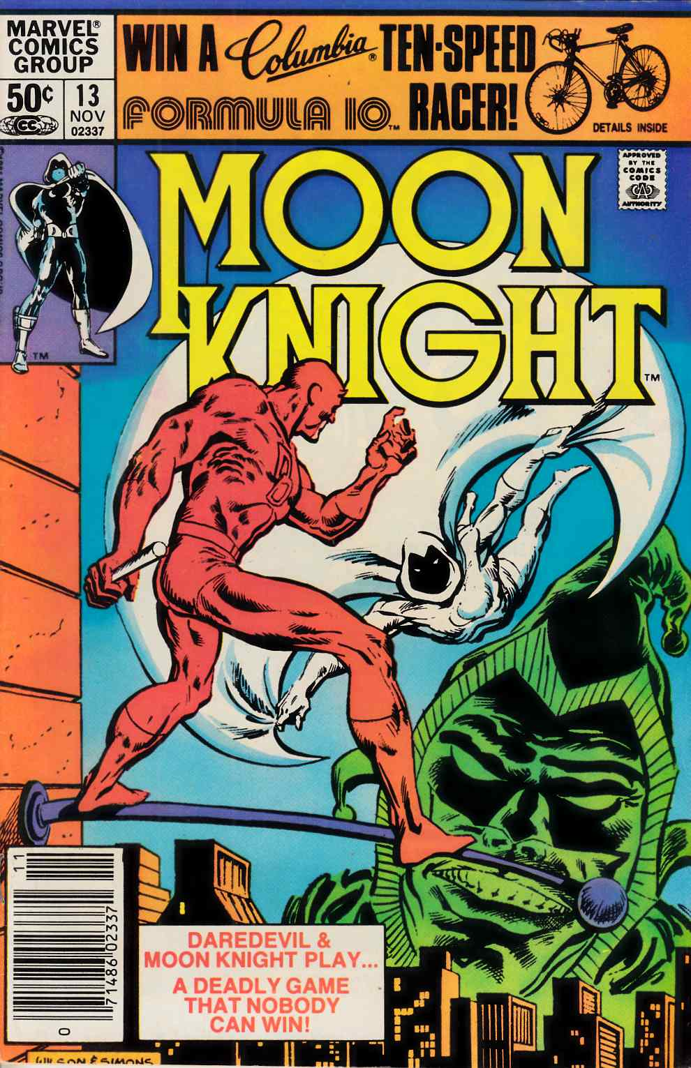 Moon Knight #13 Very Fine Minus (7.5) [Marvel Comic] THUMBNAIL