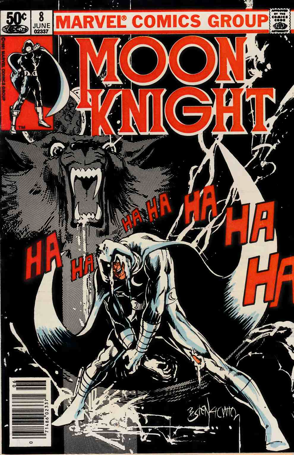 Moon Knight #8 Newsstand Edition Fine (6.0) [Marvel Comic] THUMBNAIL