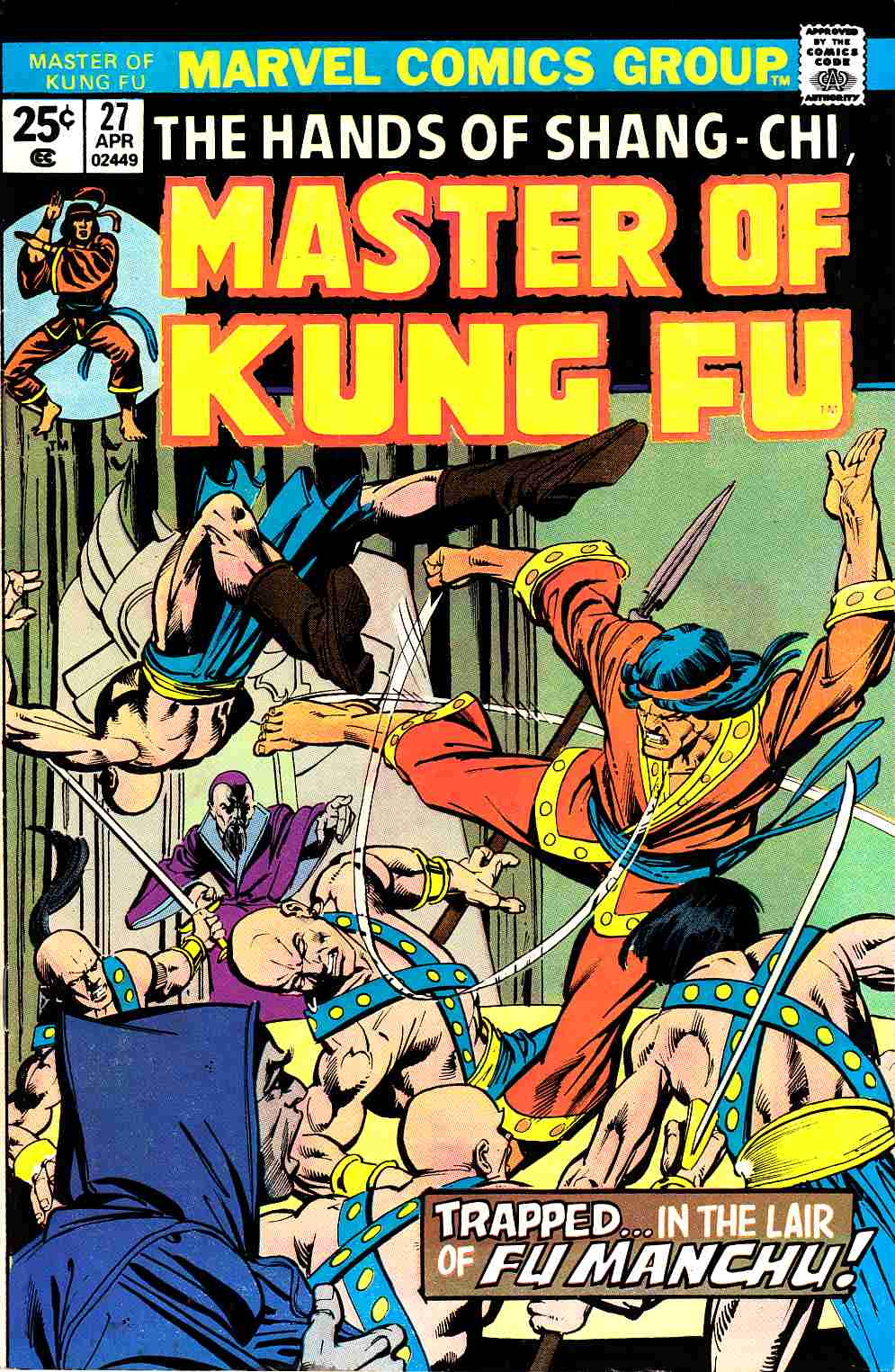 Master of Kung Fu #27 Very Fine Minus (7.5) [Marvel Comic]