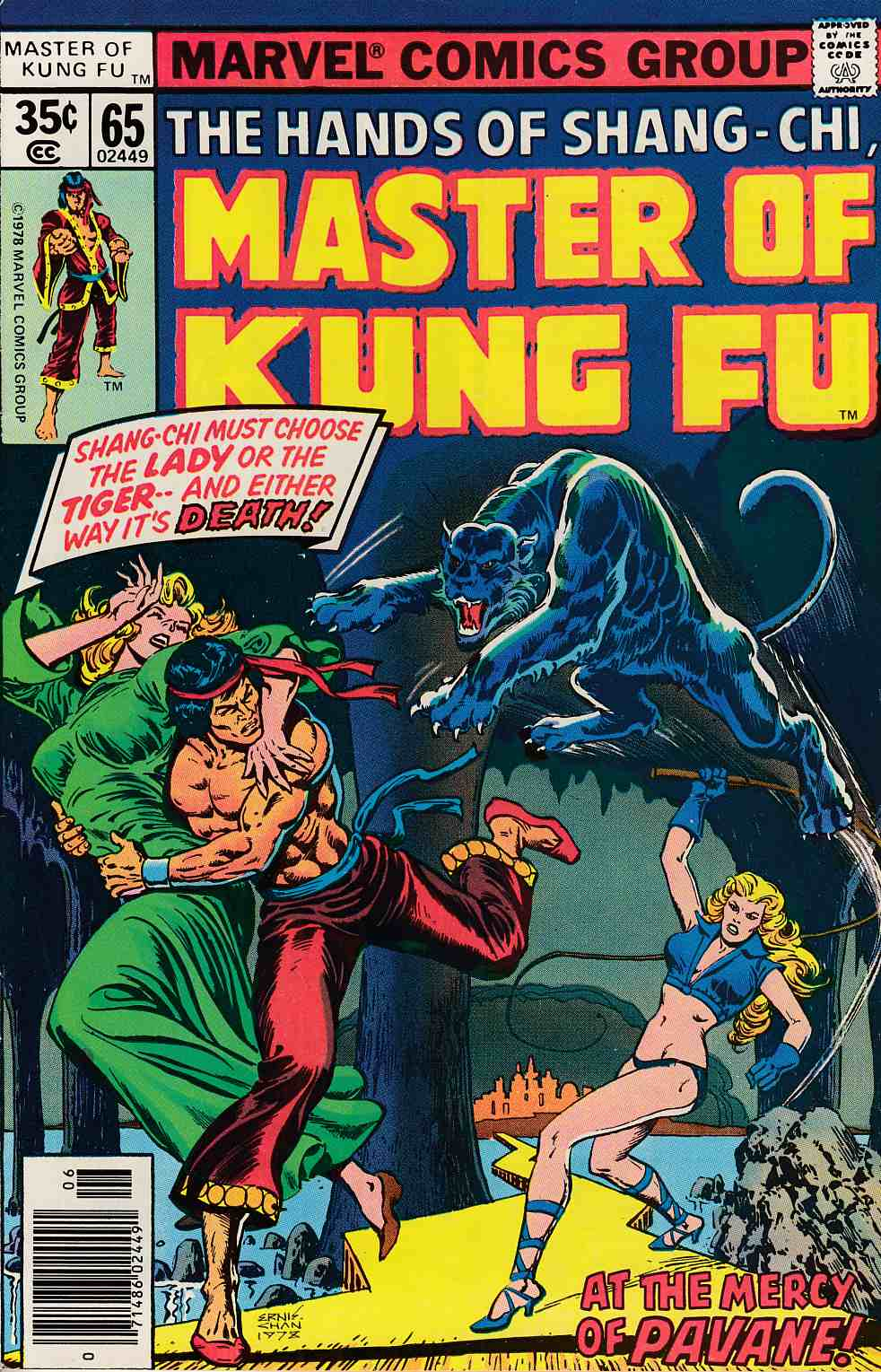Master of Kung Fu #65 Near Mint Minus (9.2) [Marvel Comic] LARGE