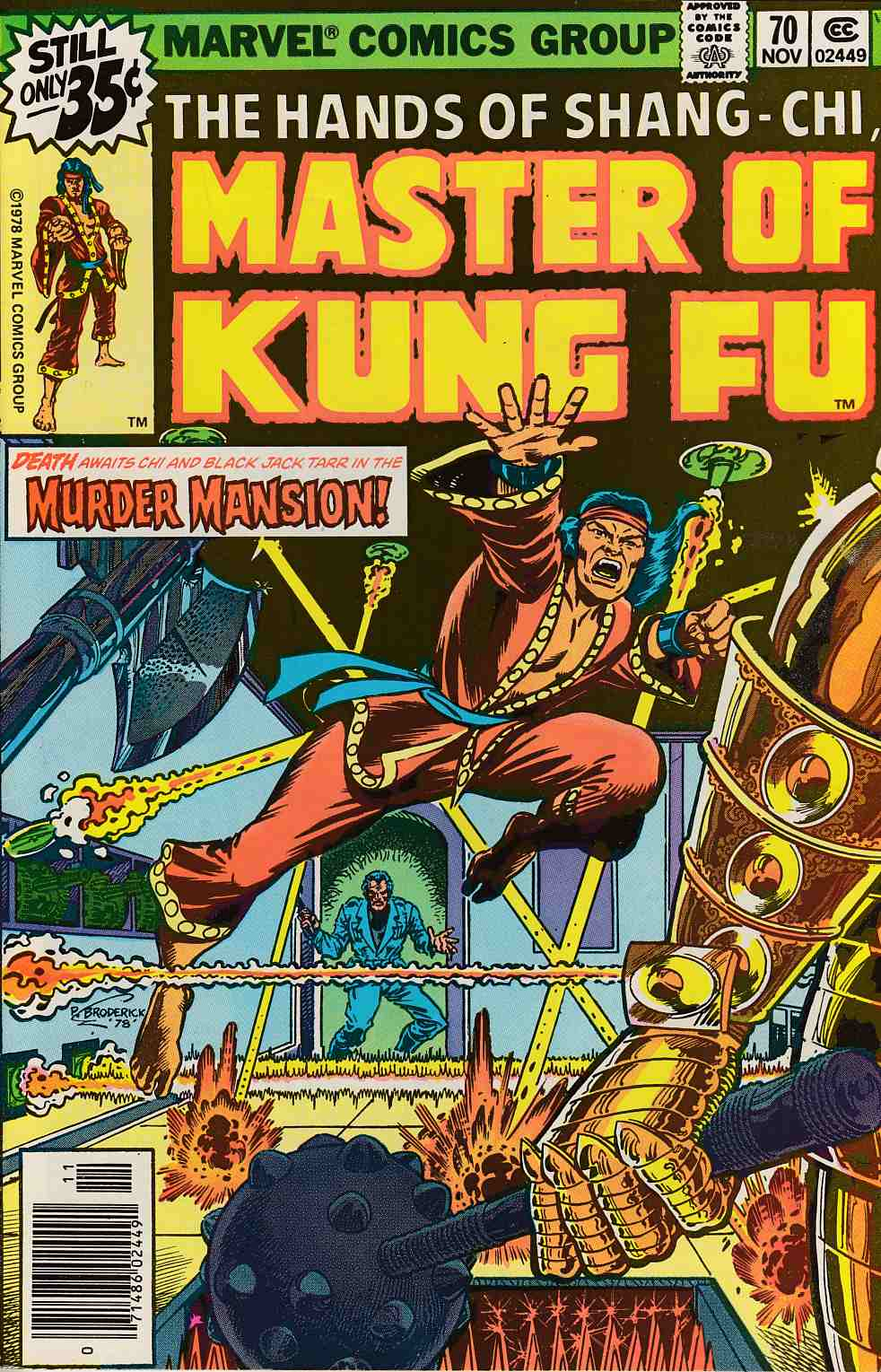 Master of Kung Fu #70 Very Fine (8.0) [Marvel Comic] LARGE