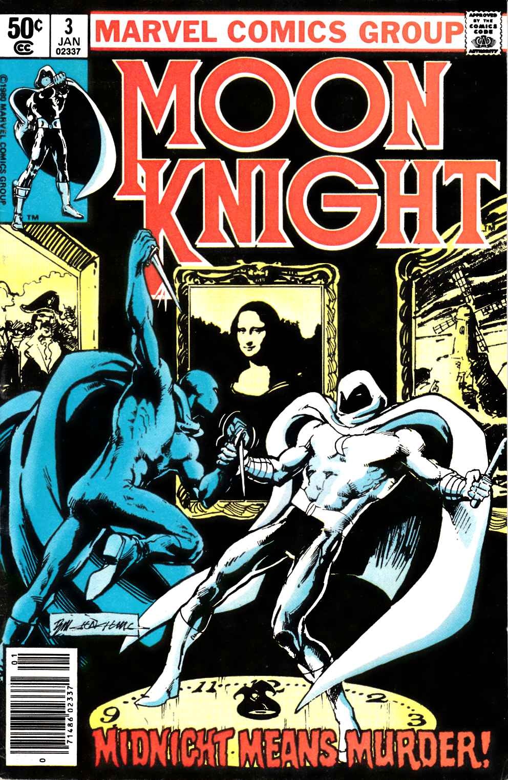 Moon Knight #3 Newsstand Edition Fine/Very Fine (7.0) [Marvel Comic] THUMBNAIL
