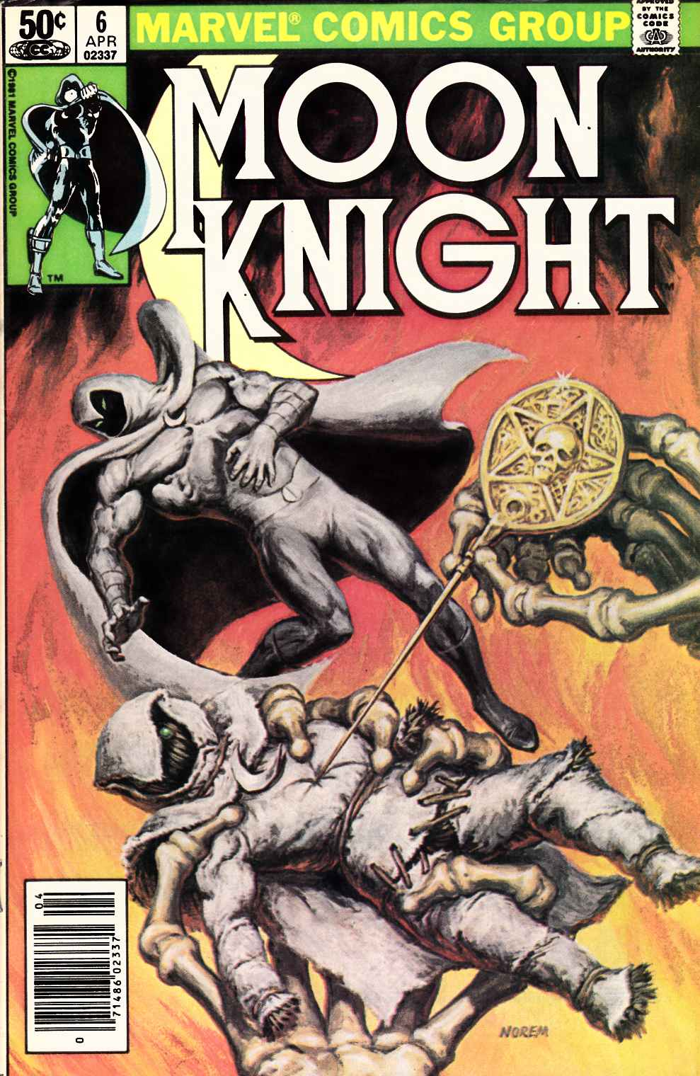 Moon Knight #6 Fine Plus (6.5) [Marvel Comic] THUMBNAIL