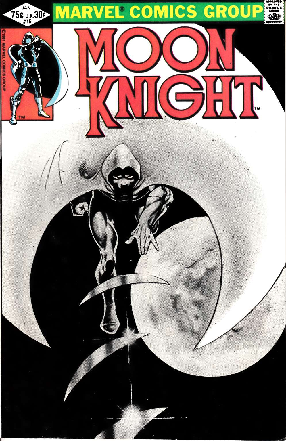 Moon Knight #15 Very Fine/Near Mint (9.0) [Marvel Comic] THUMBNAIL