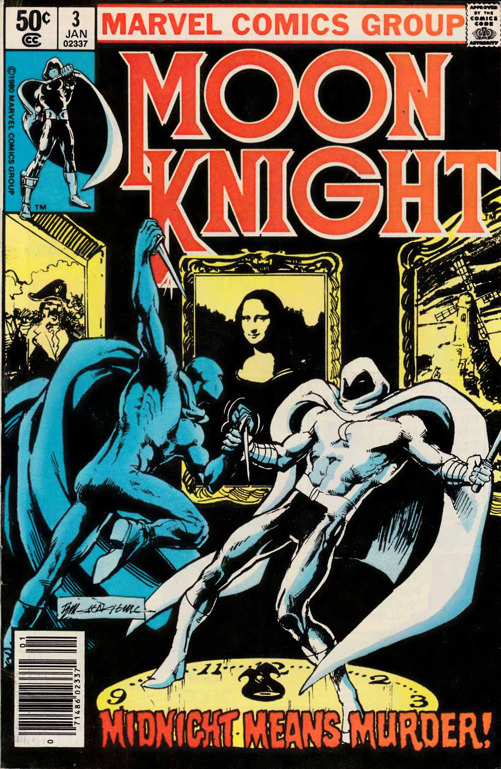 Moon Knight #3 Newsstand Edition Fine Plus (6.5) [Marvel Comic] THUMBNAIL