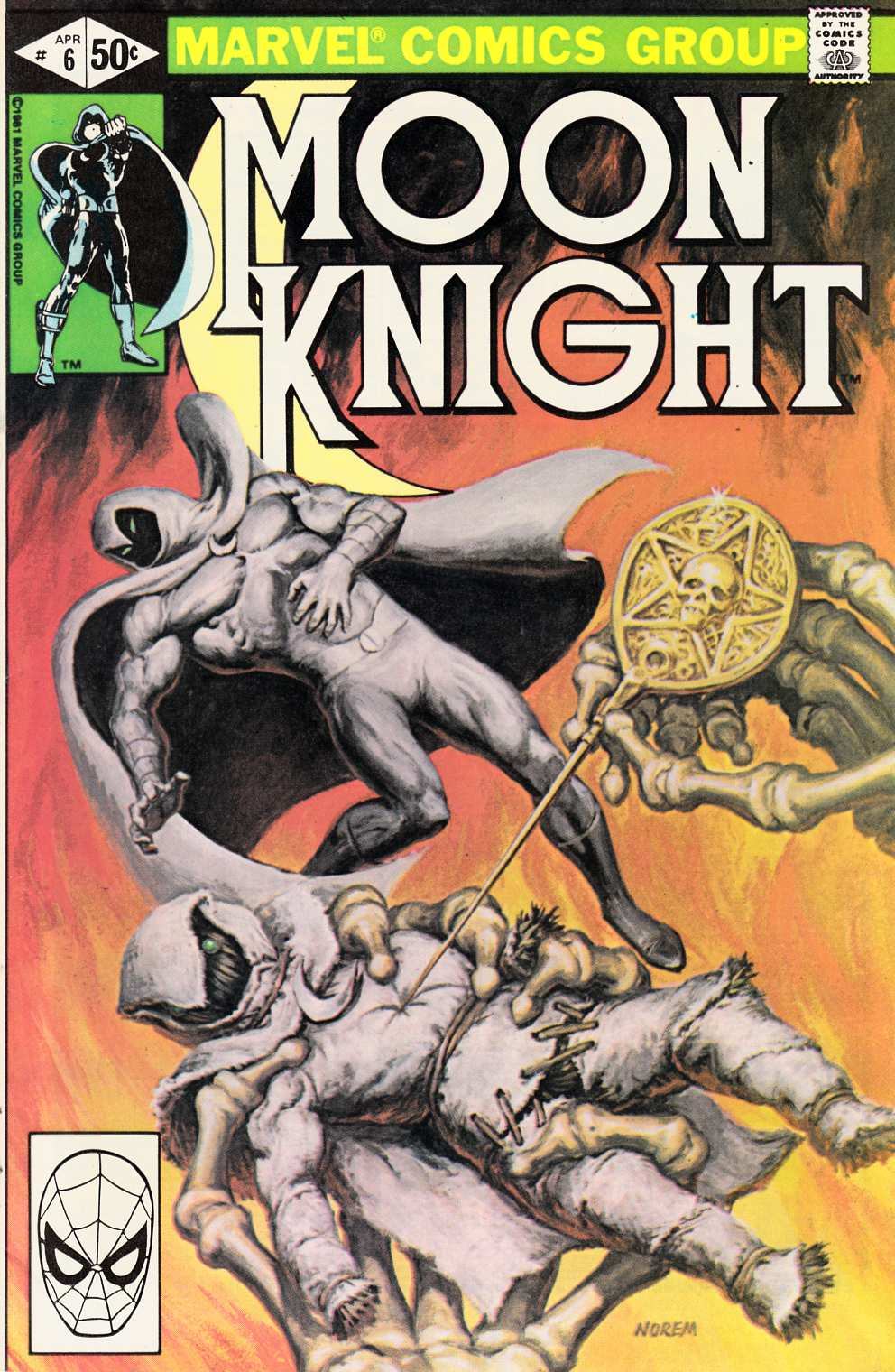 Moon Knight #6 Fine (6.0) [Marvel Comic] THUMBNAIL