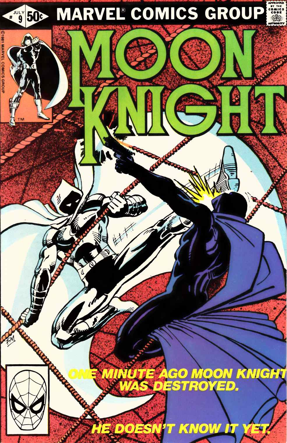 Moon Knight #9 Near Mint Minus (9.2) [Marvel Comic] THUMBNAIL