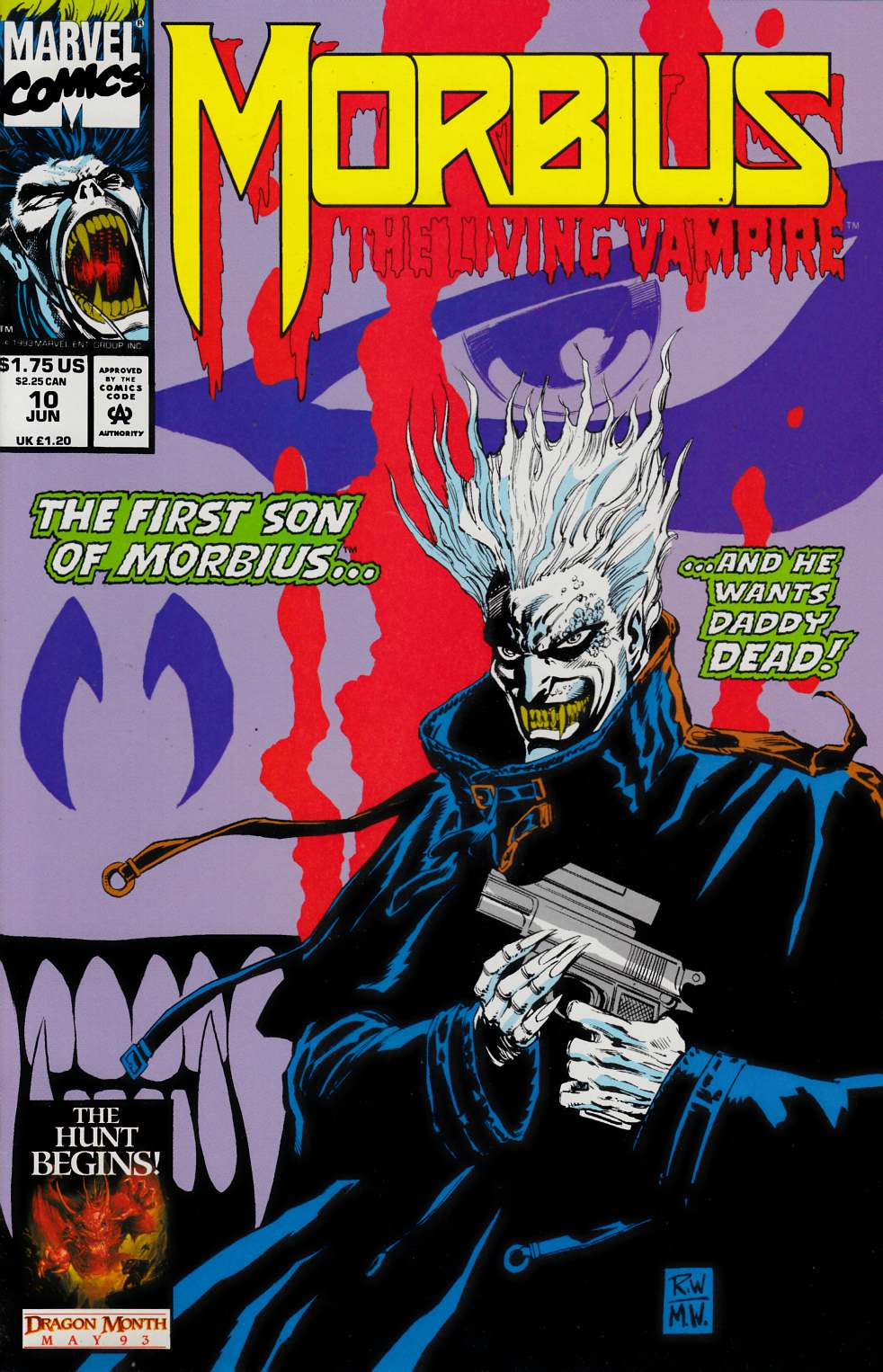 Morbius the Living Vampire #10 Near Mint (9.4) [Marvel Comic] THUMBNAIL