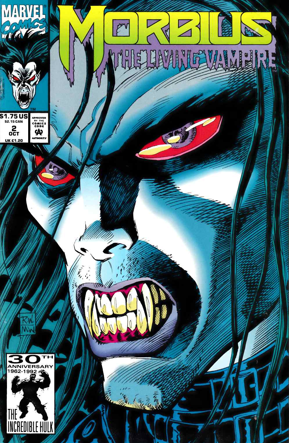 Morbius the Living Vampire #2 Very Fine (8.0) [Marvel Comic] THUMBNAIL