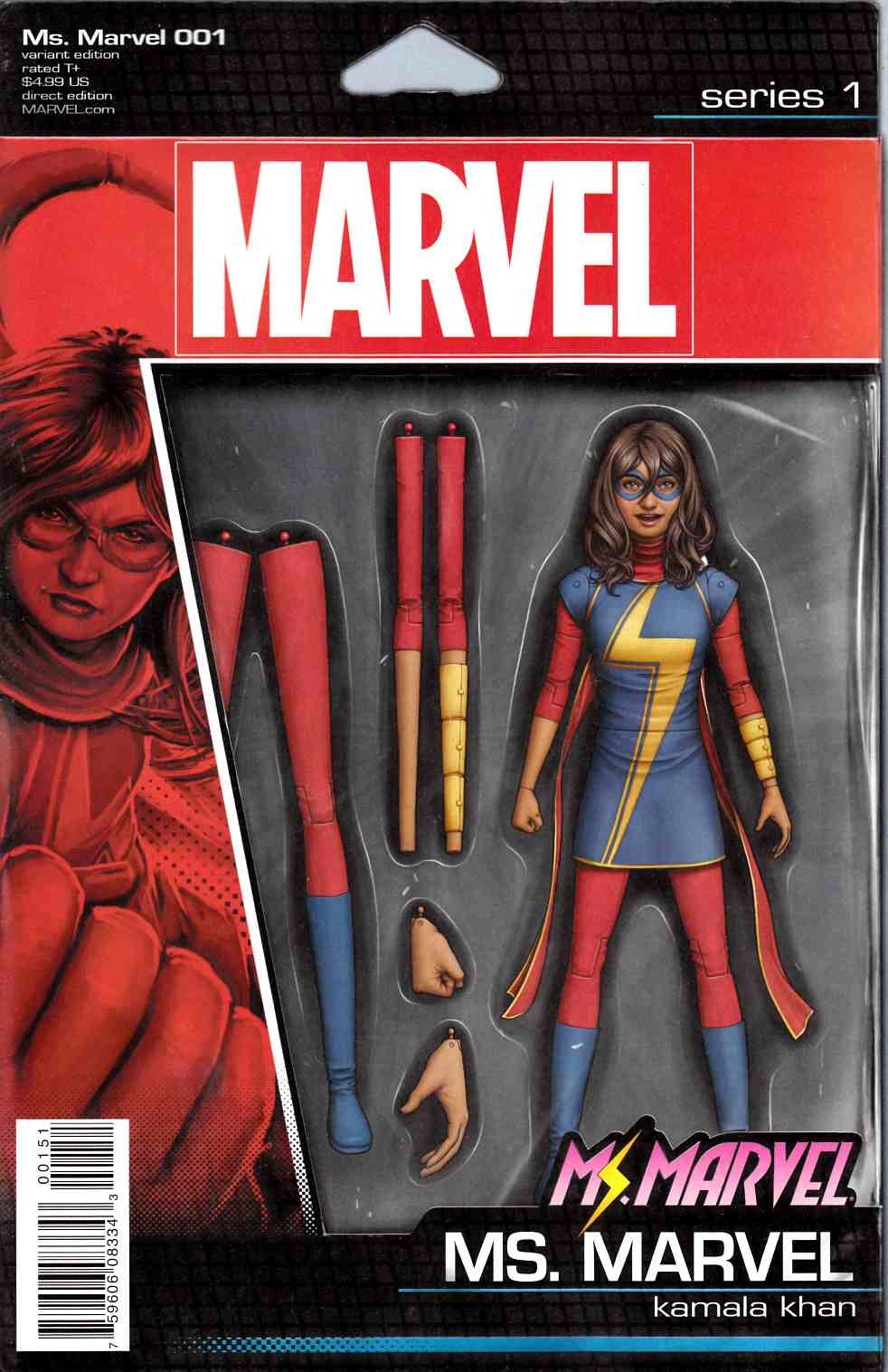Ms Marvel #1 Christopher Action Figure Variant Cover [Marvel Comic] LARGE