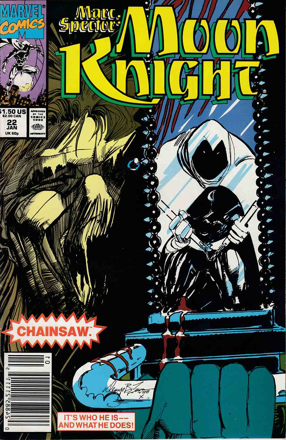 Marc Spector Moon Knight #22 Very Fine Plus (8.5) [Marvel Comic] THUMBNAIL