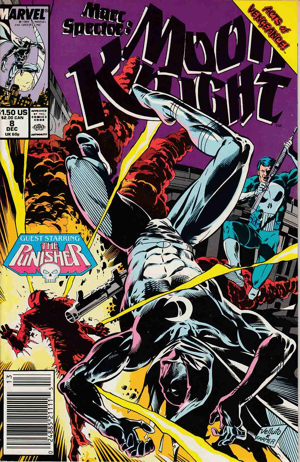 Marc Spector Moon Knight #8 Newsstand Edition Near Mint (9.4) [Marvel Comic] THUMBNAIL