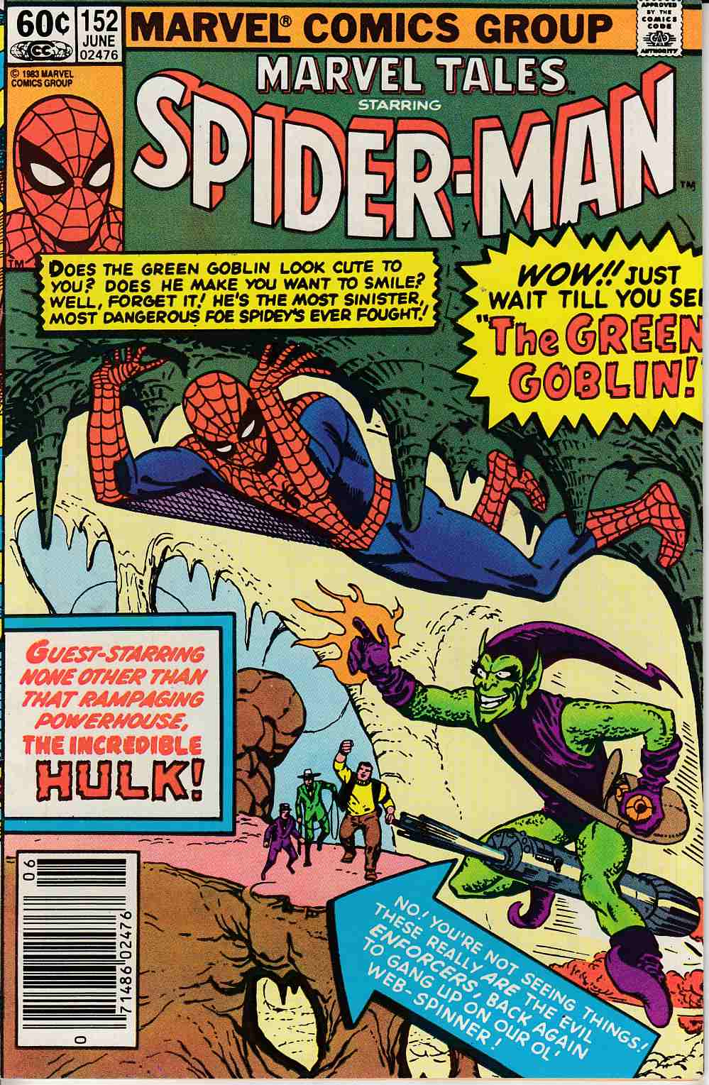 Marvel Tales #152 Newsstand Edition Very Fine (8.0) [Marvel Comic] LARGE
