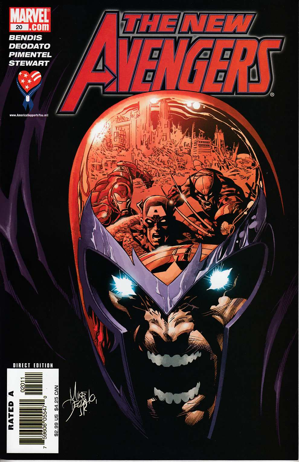 New Avengers #20 Near Mint (9.4) [Marvel Comic]