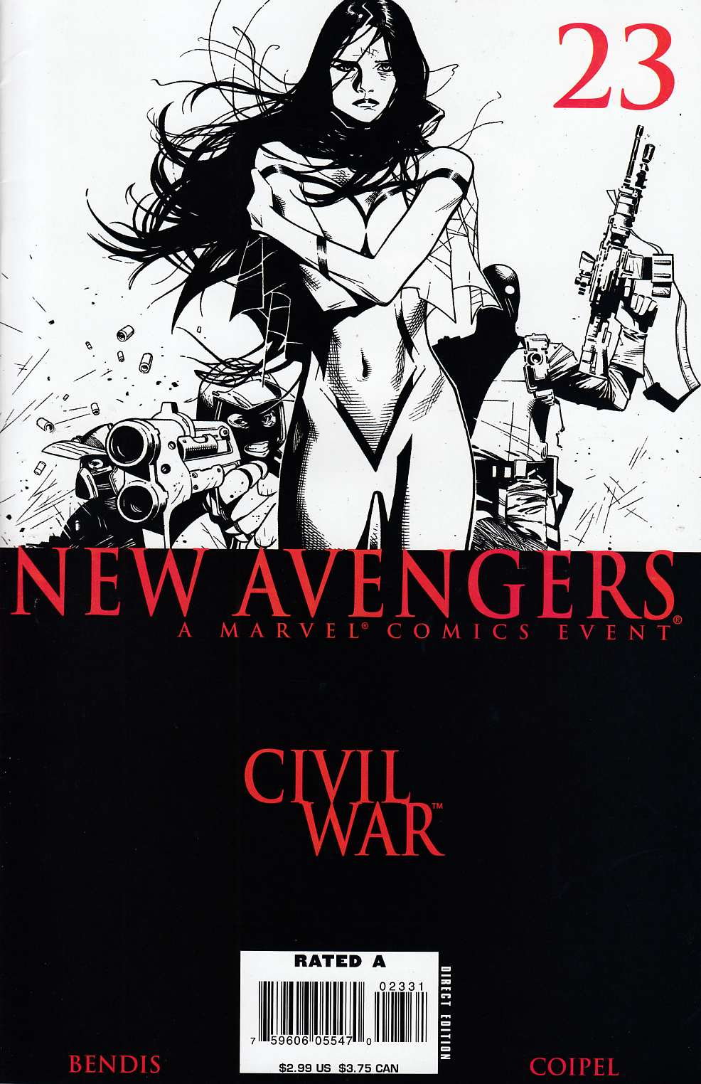 New Avengers #23 Coipel Black & White Variant Cover Very Fine (8.0) [Marvel Comic] LARGE