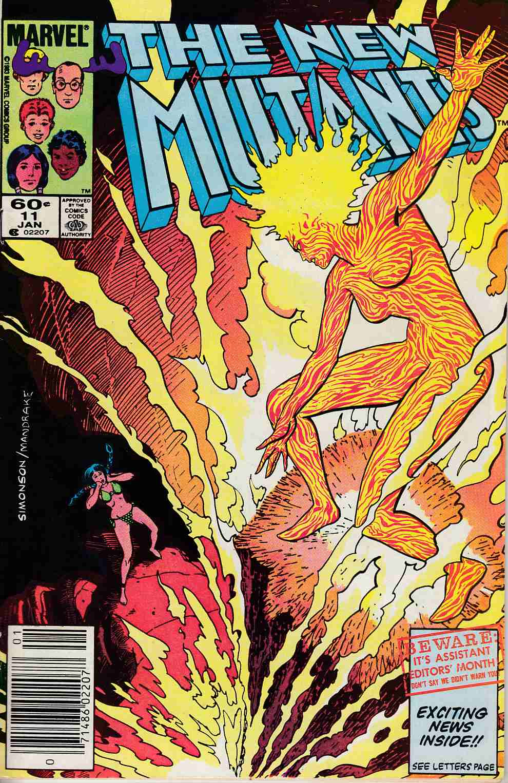 New Mutants #11 Newsstand Edition Fine (6.0) [Marvel Comic] THUMBNAIL