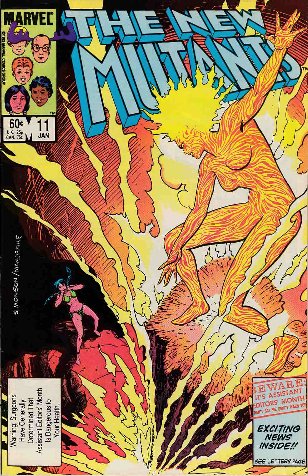 New Mutants #11 Very Fine (8.0) [Marvel Comic] THUMBNAIL
