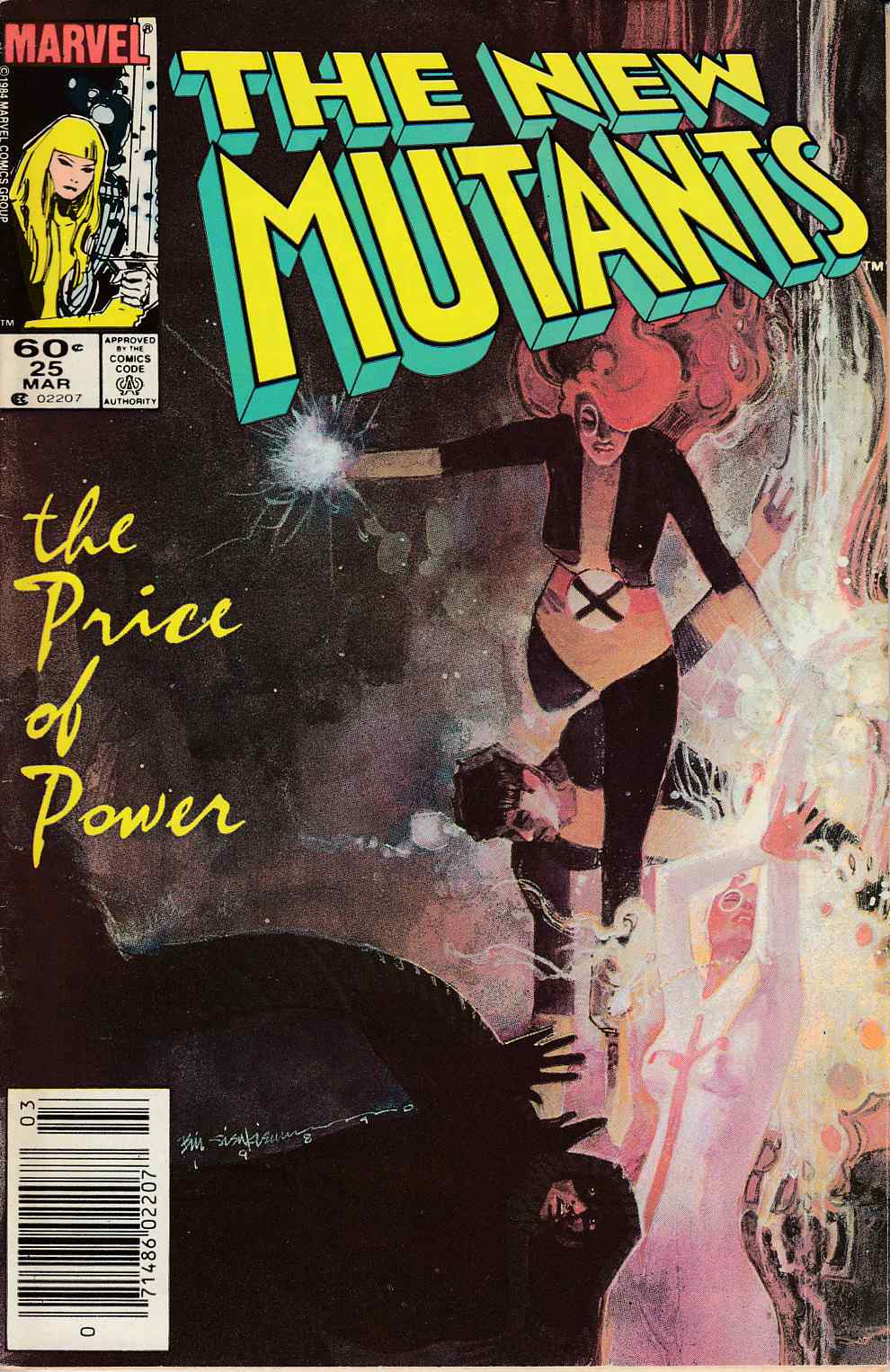 New Mutants #25 Newsstand Edition Fine (6.0) [Marvel Comic] LARGE