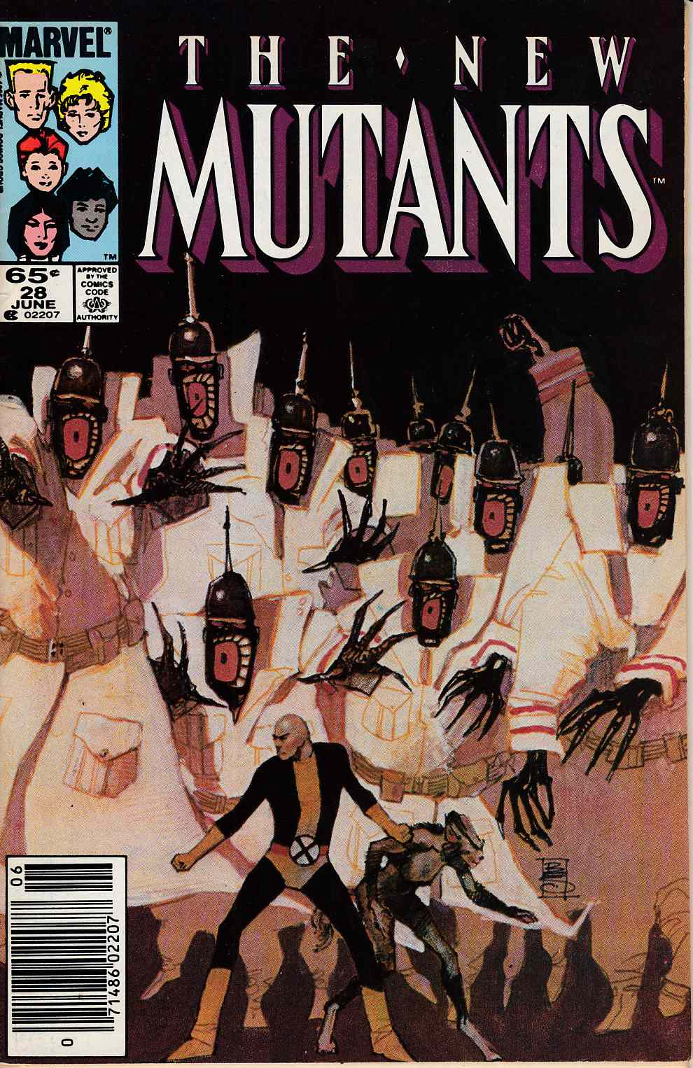 New Mutants #28 Newsstand Edition Fine (6.0) [Marvel Comic] LARGE