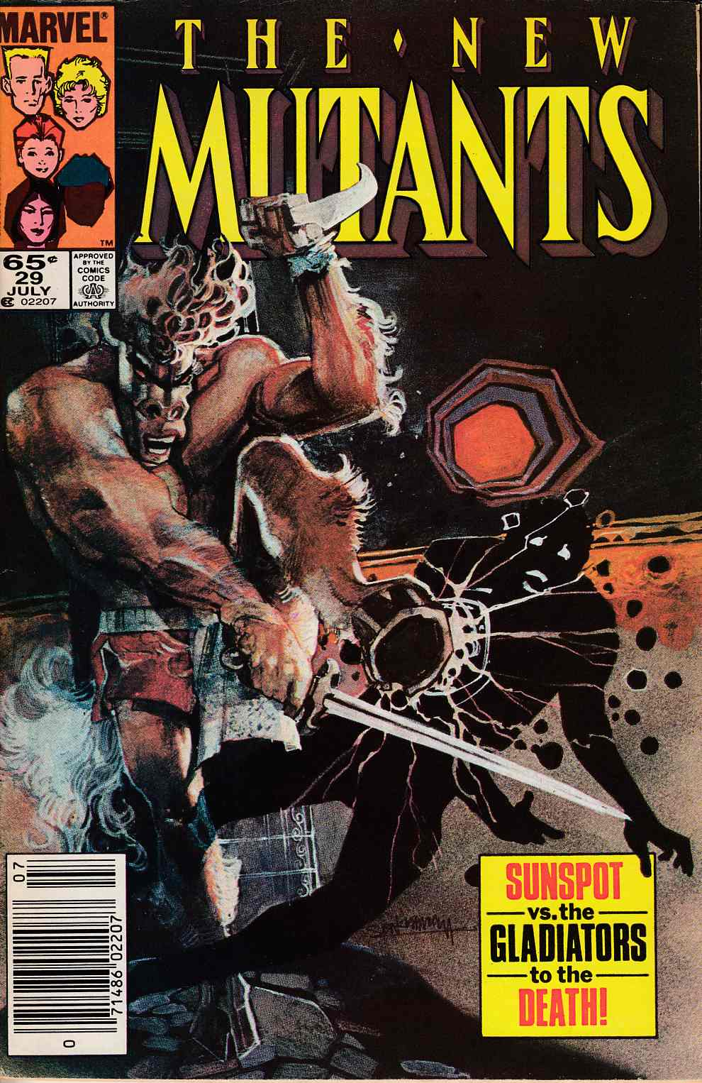 New Mutants #29 Newsstand Edition Fine (6.0) [Marvel Comic] LARGE