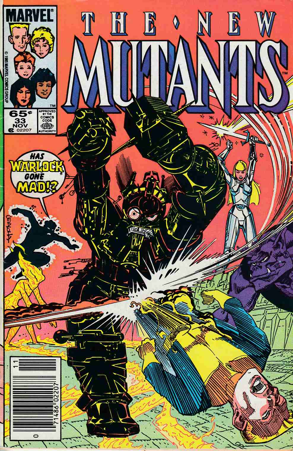 New Mutants #33 Newsstand Edition Very Good (4.0) [Marvel Comic] LARGE