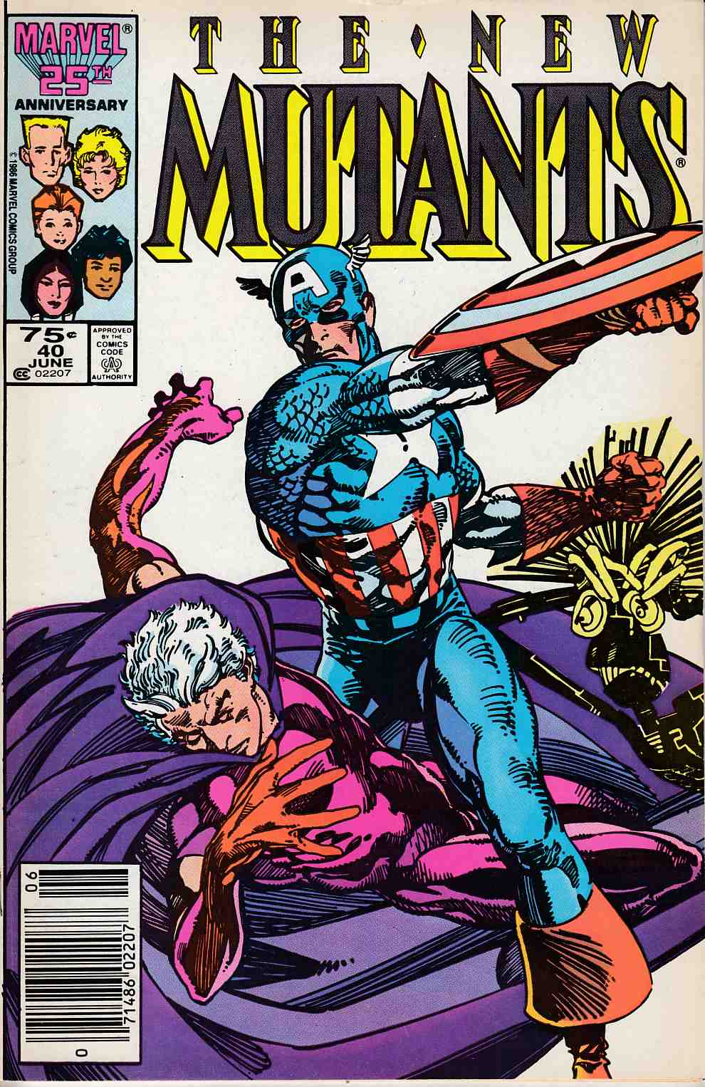 New Mutants #40 Newsstand Edition Very Fine (8.0) [Marvel Comic] LARGE