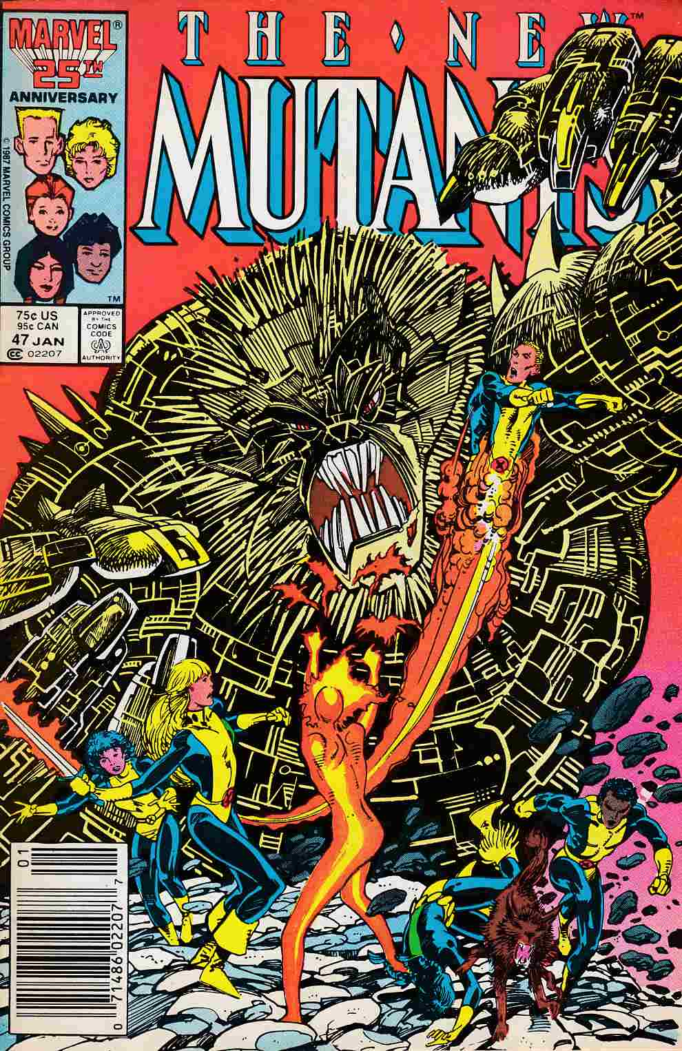 New Mutants #47 Newsstand Edition Fine Plus (6.5) [Marvel Comic] LARGE