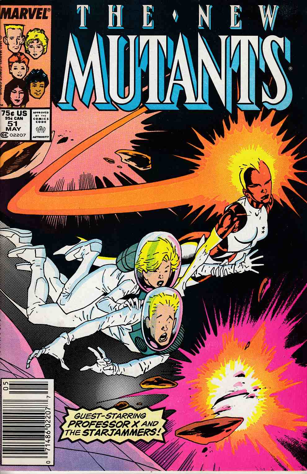 New Mutants #51 Newsstand Edition Fine (6.0) [Marvel Comic] LARGE