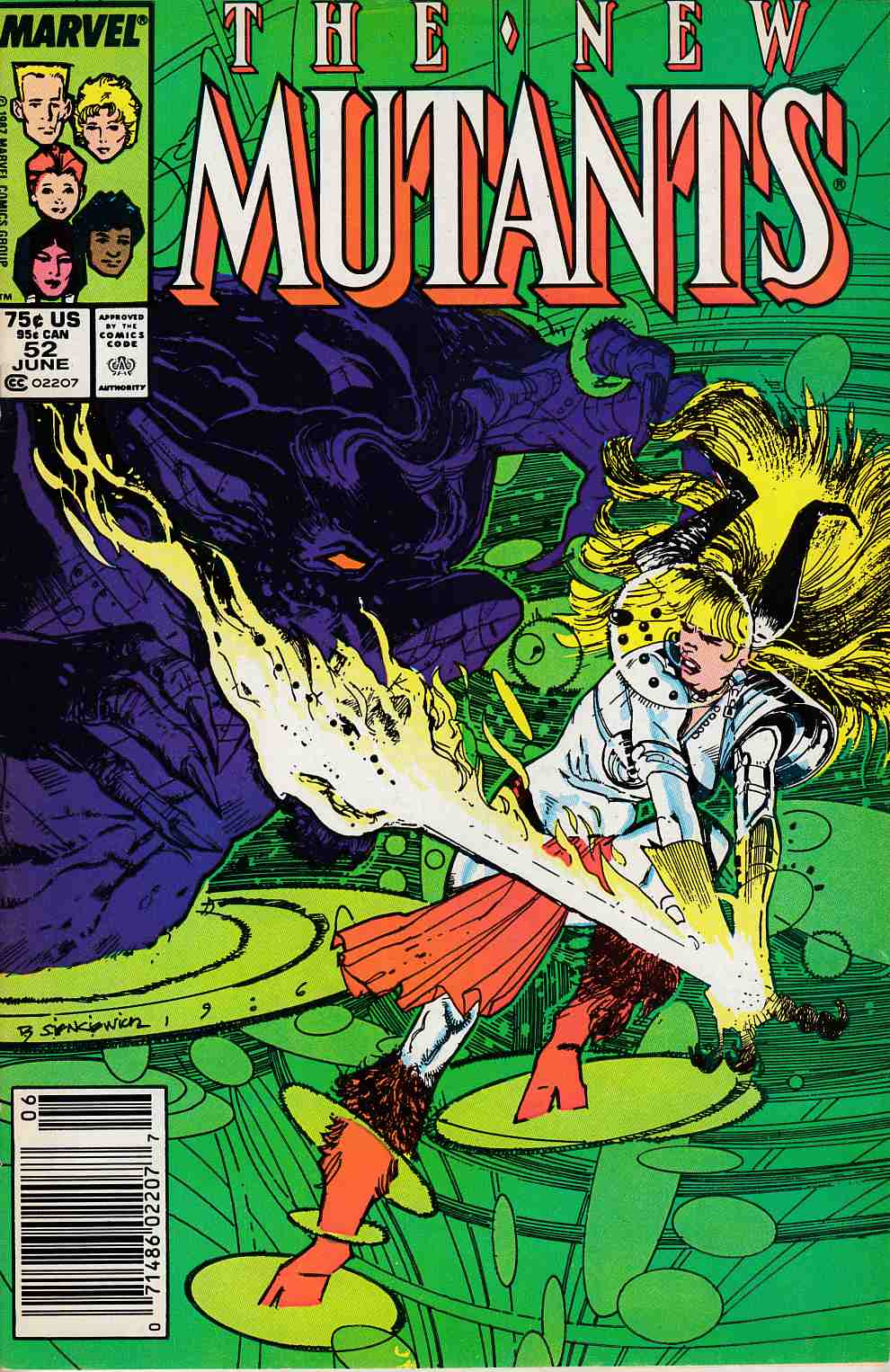 New Mutants #52 Newsstand Edition Very Fine (8.0) [Marvel Comic] LARGE