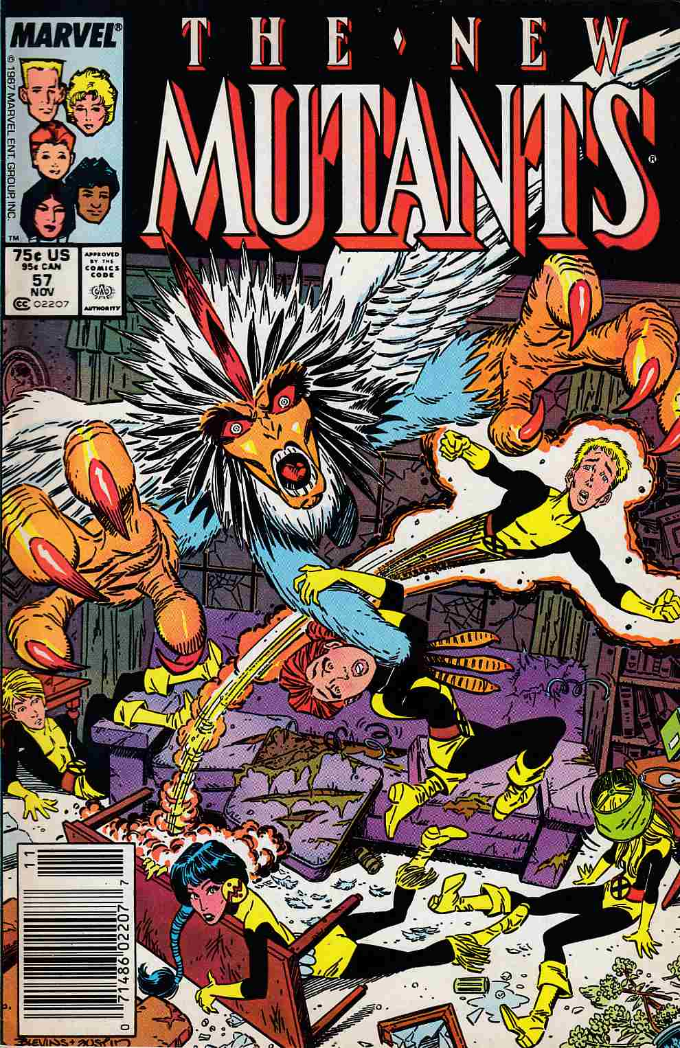 New Mutants #57 Newsstand Edition Fine Plus (6.5) [Marvel Comic] LARGE