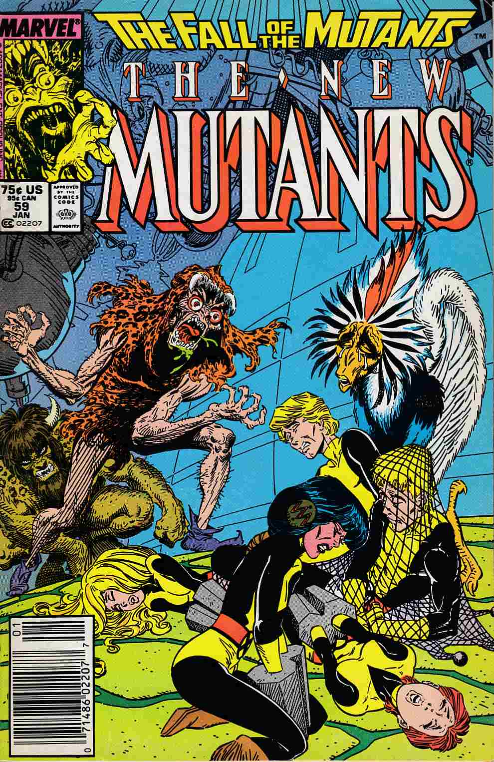 New Mutants #59 Newsstand Edition Fine Minus (5.5) [Marvel Comic] LARGE