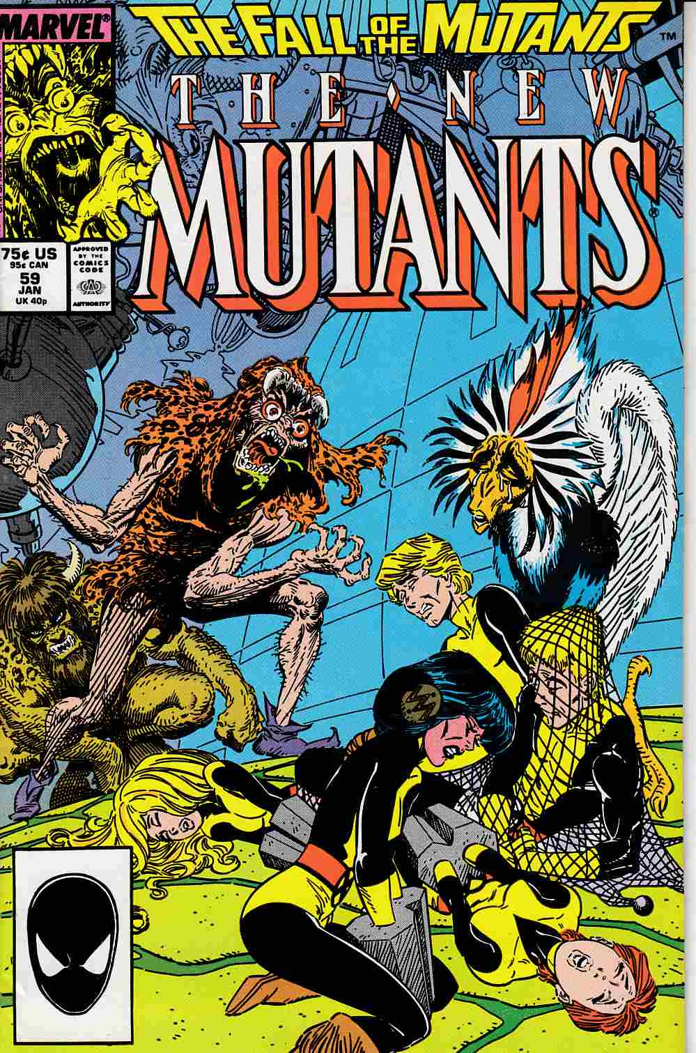 New Mutants #59 Very Fine (8.0) [Marvel Comic] LARGE