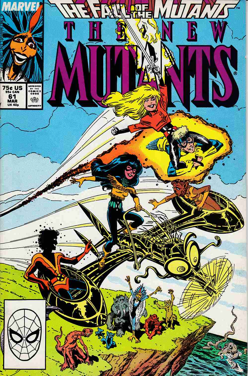 New Mutants #61 Fine Minus (5.5) [Marvel Comic] LARGE