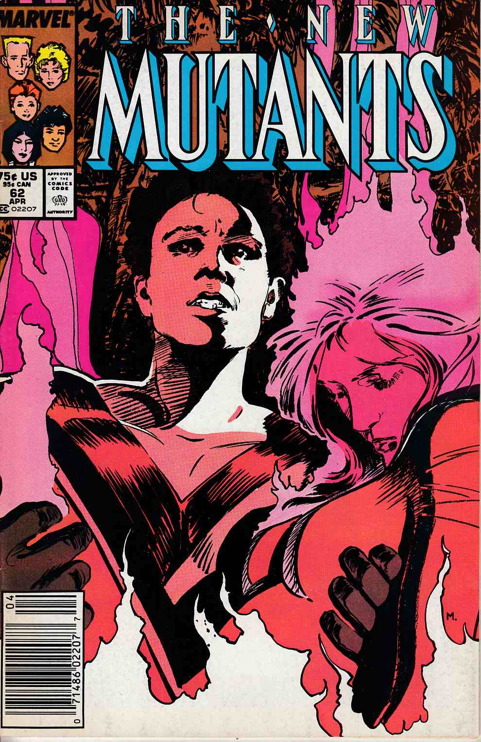 New Mutants #62 Newsstand Edition Fine (6.0) [Marvel Comic] LARGE