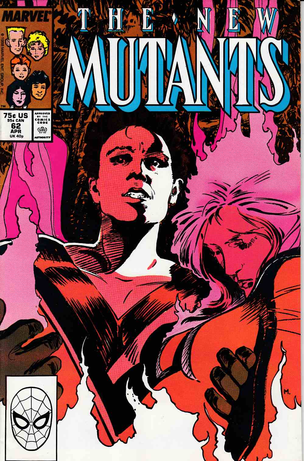 New Mutants #62 Very Fine (8.0) [Marvel Comic] LARGE