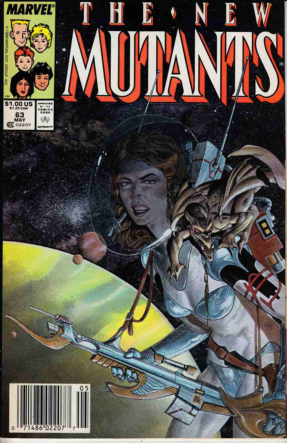 New Mutants #63 Newsstand Edition Fine (6.0) [Marvel Comic] LARGE