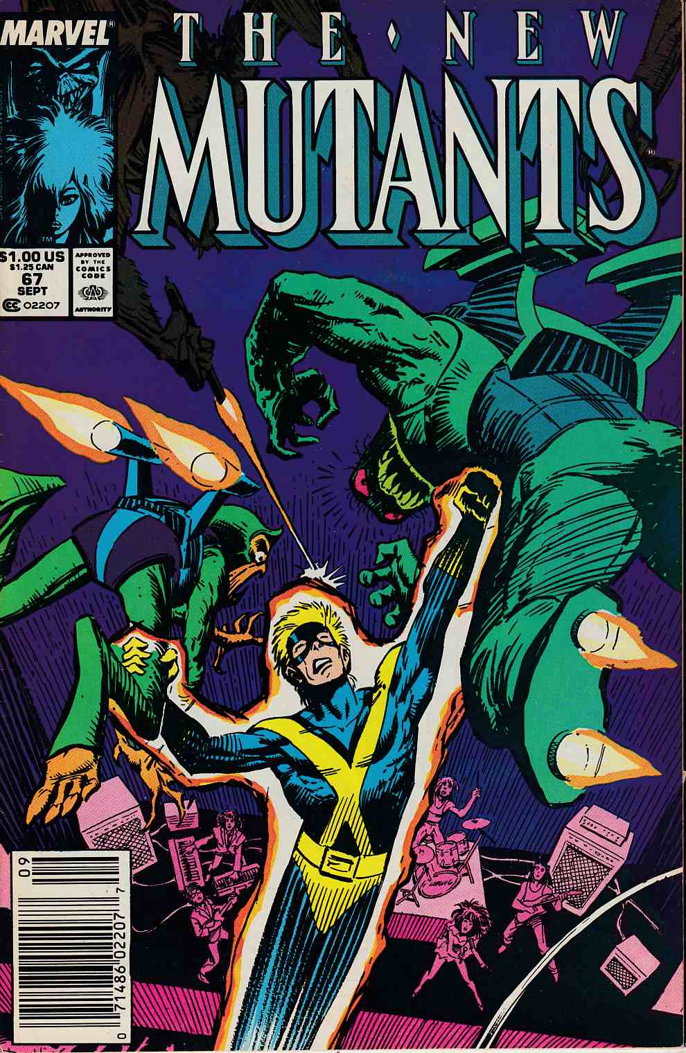 New Mutants #67 Newsstand Edition Very Fine (8.0) [Marvel Comic] LARGE