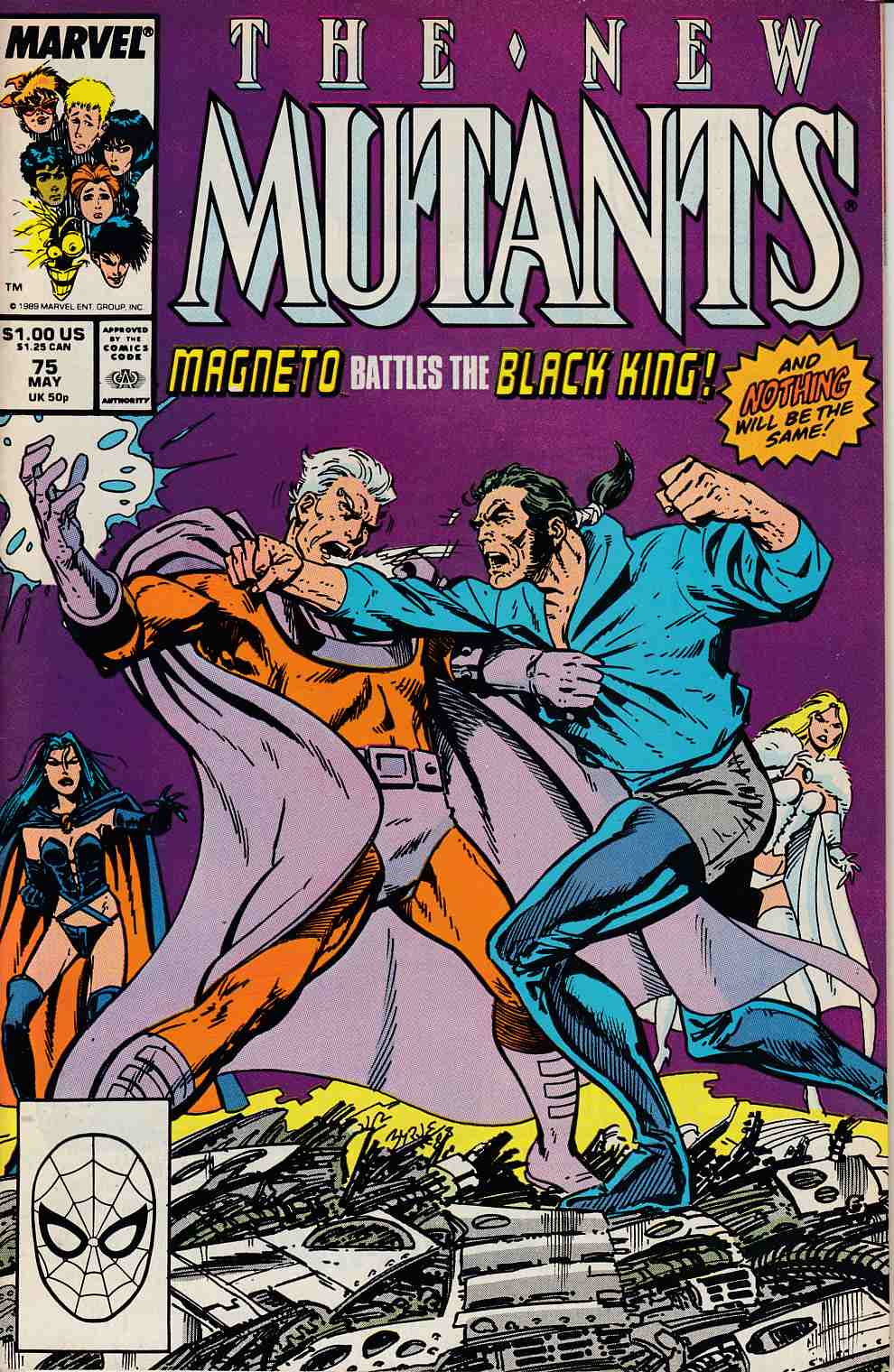 New Mutants #75 Very Fine Minus (7.5) [Marvel Comic] LARGE