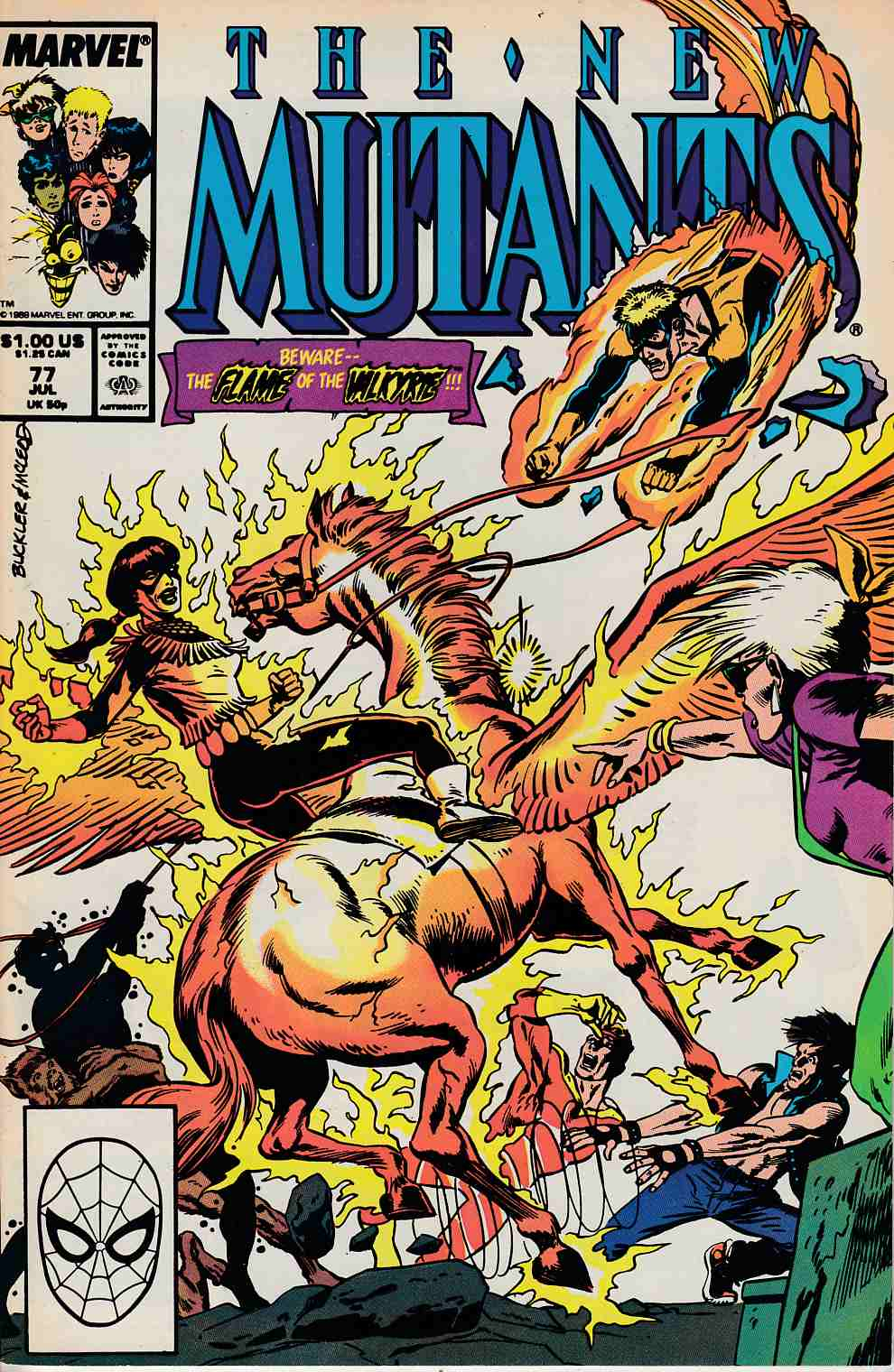 New Mutants #77 Very Fine (8.0) [Marvel Comic] LARGE