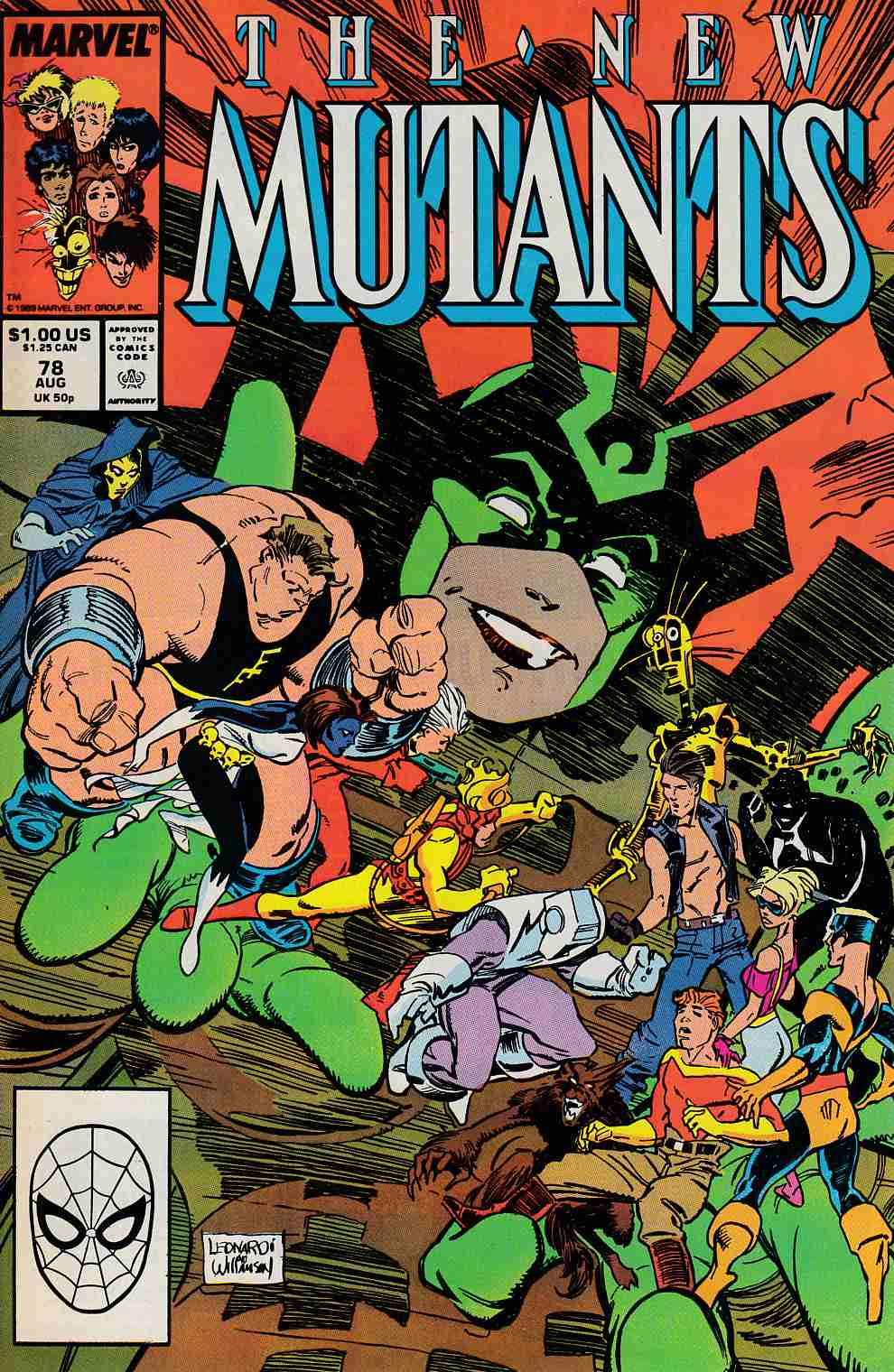 New Mutants #78 Very Fine (8.0) [Marvel Comic] LARGE