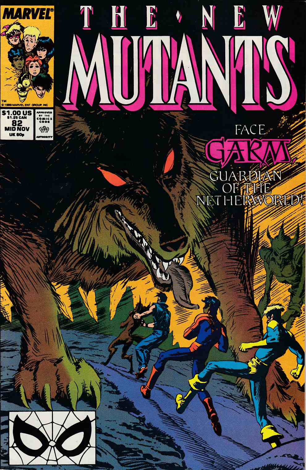 New Mutants #82 Fine (6.0) [Marvel Comic] LARGE