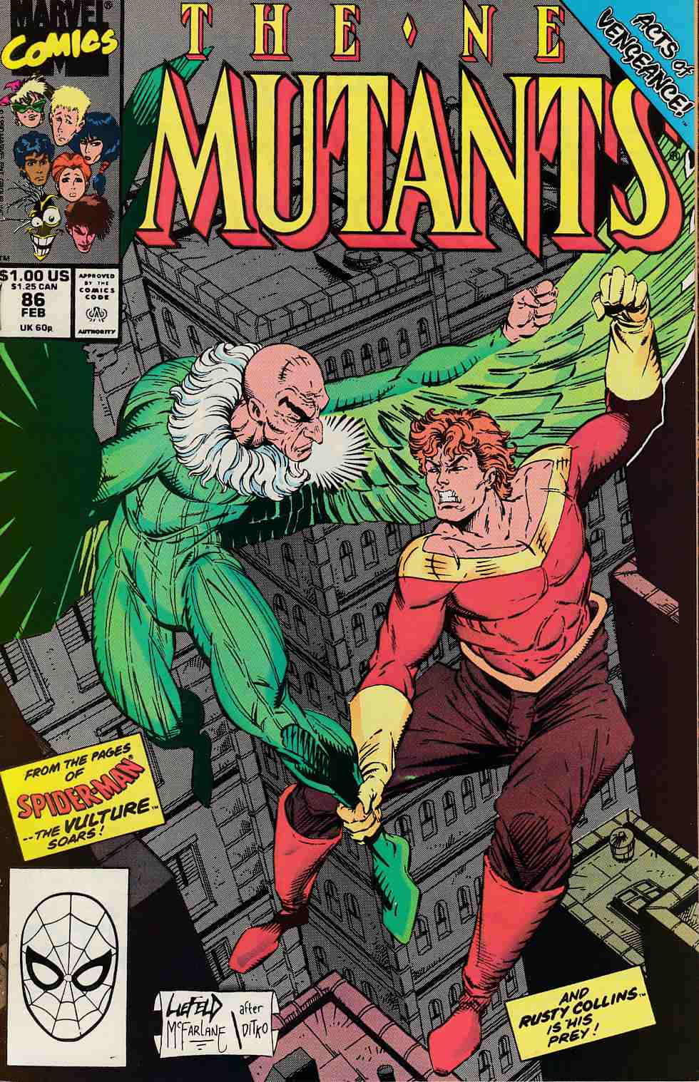 New Mutants #86 Near Mint Minus (9.2) [Marvel Comic] LARGE