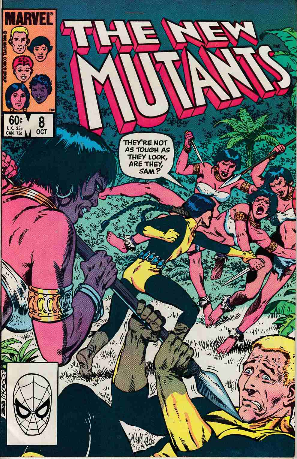 New Mutants #8 Very Fine Minus (7.5) [Marvel Comic] THUMBNAIL