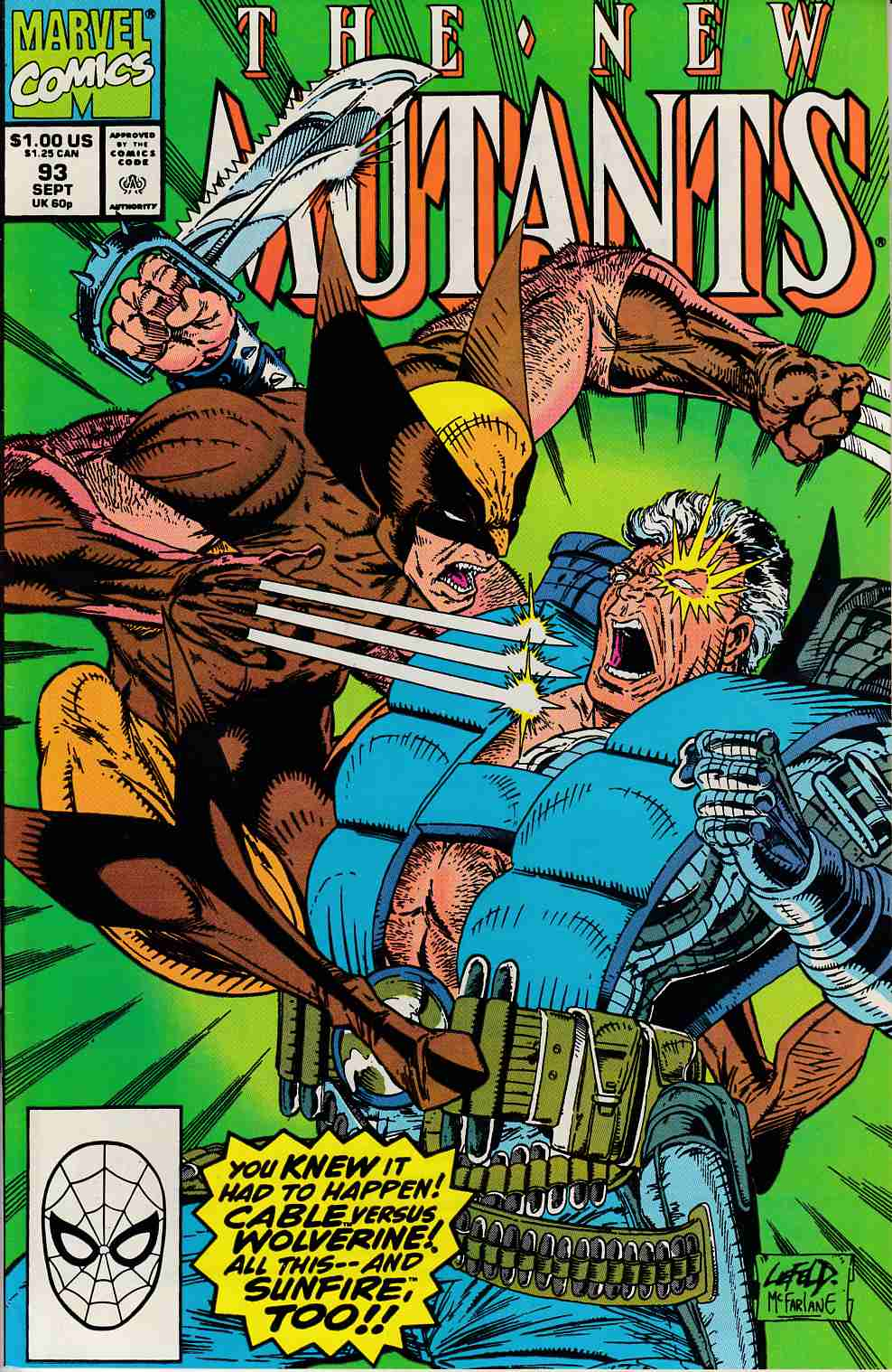 New Mutants #93 Very Fine (8.0) [Marvel Comic] LARGE