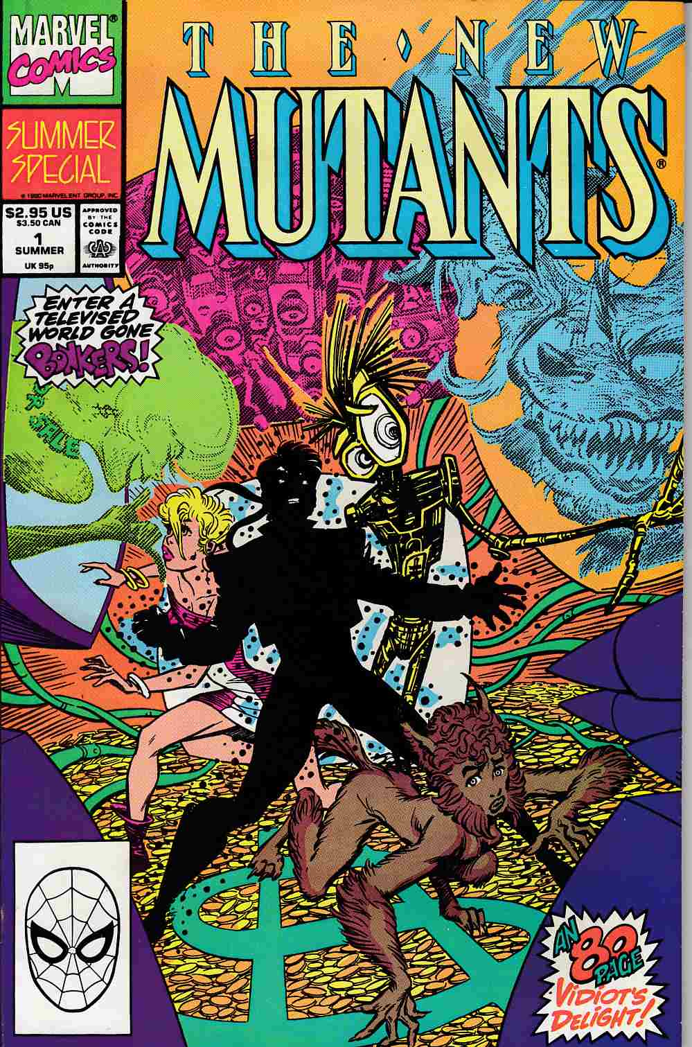 New Mutants Summer Special #1 Very Fine (8.0) [Marvel Comic] LARGE