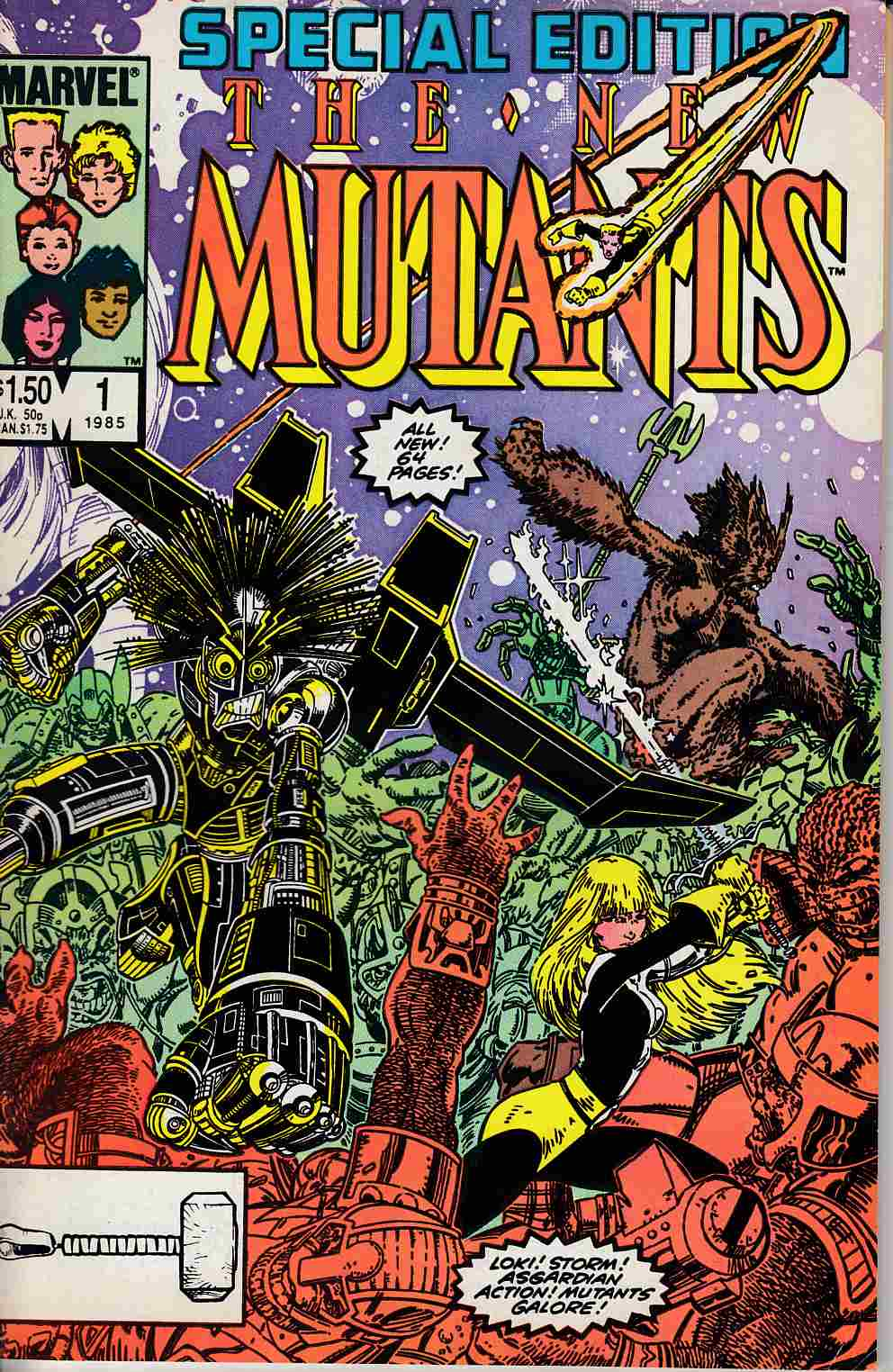 New Mutants Special Edition #1 Fine (6.0) [Marvel Comic] LARGE