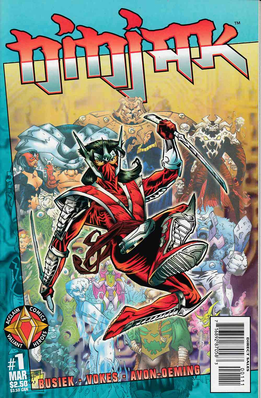 Ninjak #1 Near Mint (9.4) [Acclaim Comic]_THUMBNAIL