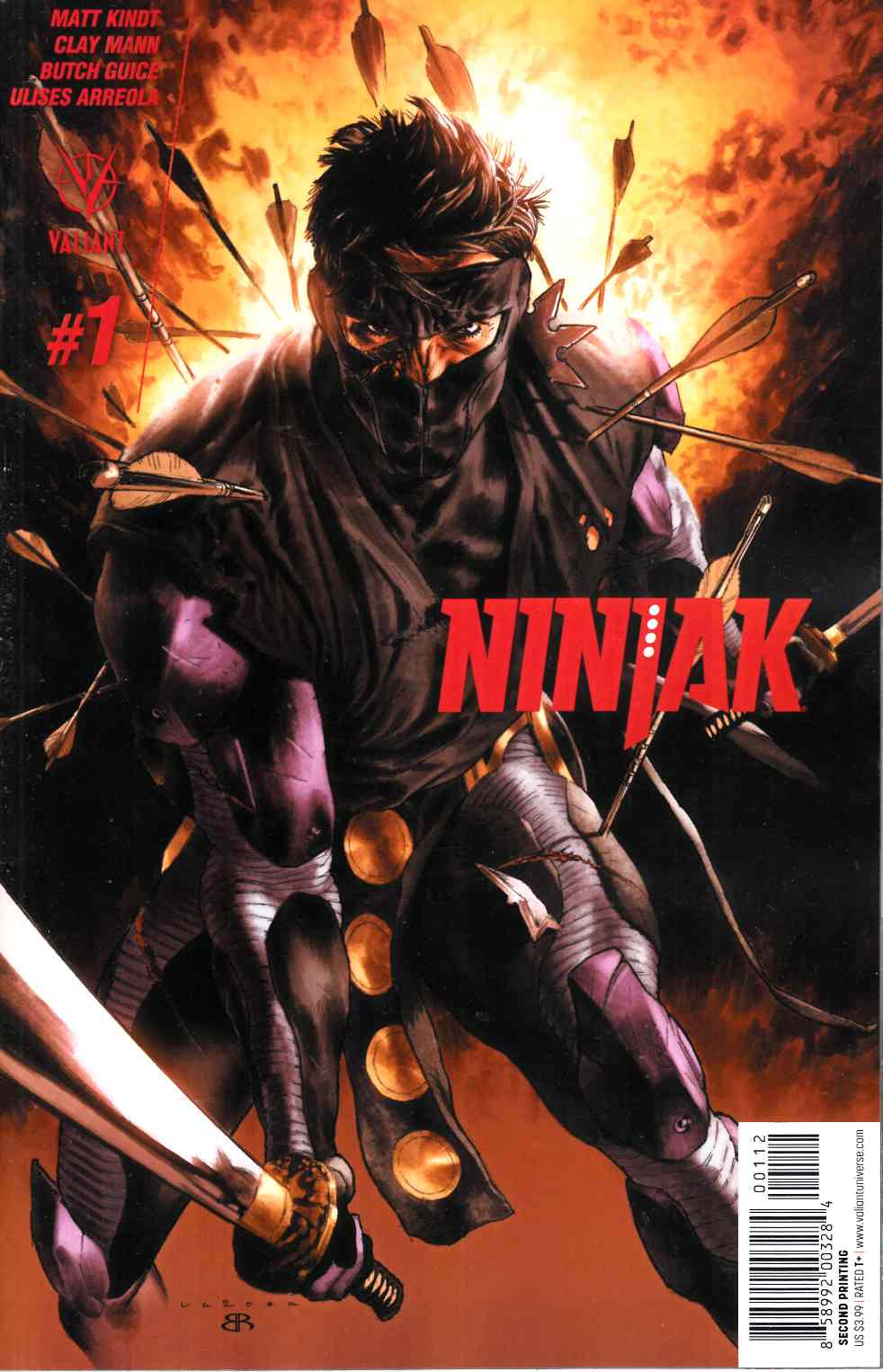 Ninjak #1 Second Printing [Valiant Comic]_LARGE